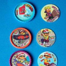 Juegos antiguos: LOTE DE TAZOS ROLLERS. AÑO 2004. Lote 186356441