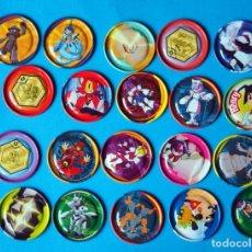 Juegos antiguos: LOTE DE TAZOS METALICOS METAL RAPPERS. MEDABOTS. AÑO 1997. Lote 186357446