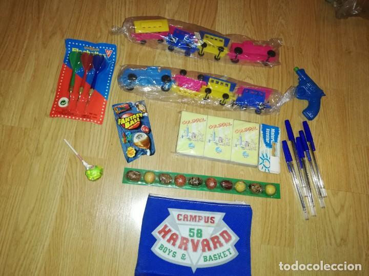 Juegos antiguos: Lote de juguetes y artículos años 80 kiosko, era EGB, cheiw, boomer, años 70,años 90,dunkin - Foto 5 - 187461536