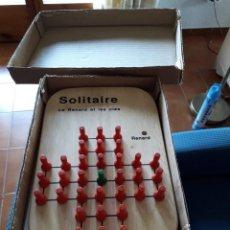 Juegos antiguos: JUEGO SOLITAIRE ( LE RENARD ET LES OIES) MEDIDAS 23 X15 CM COMPLETO EN PERFECTAS CONDICIONES.. Lote 187506107