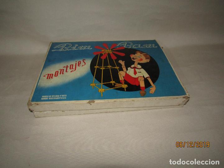Juegos antiguos: Antiguo Juego de Construcción en Madera MONTAJES BIM BAM SUPER-RARO - Foto 2 - 187975400