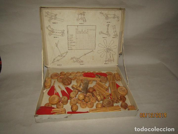 Juegos antiguos: Antiguo Juego de Construcción en Madera MONTAJES BIM BAM SUPER-RARO - Foto 5 - 187975400