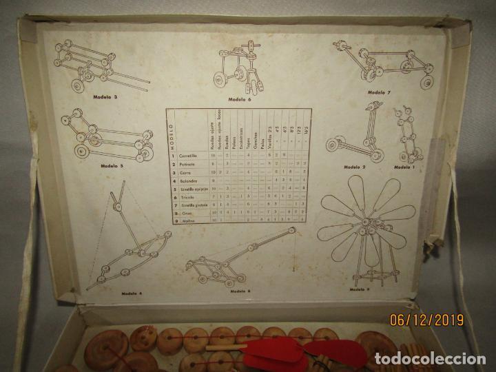 Juegos antiguos: Antiguo Juego de Construcción en Madera MONTAJES BIM BAM SUPER-RARO - Foto 6 - 187975400