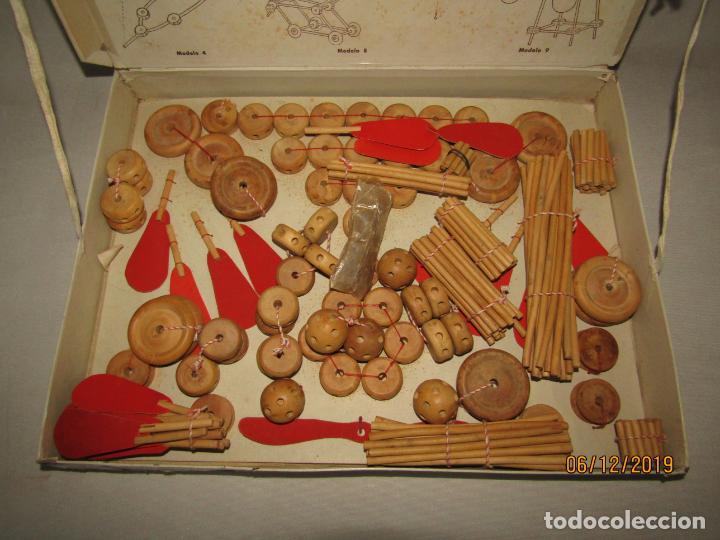 Juegos antiguos: Antiguo Juego de Construcción en Madera MONTAJES BIM BAM SUPER-RARO - Foto 7 - 187975400