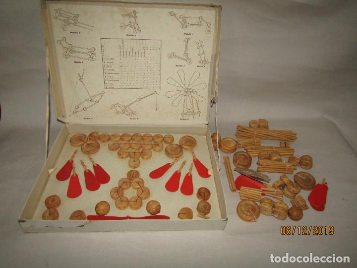 Juegos antiguos: Antiguo Juego de Construcción en Madera MONTAJES BIM BAM SUPER-RARO - Foto 9 - 187975400