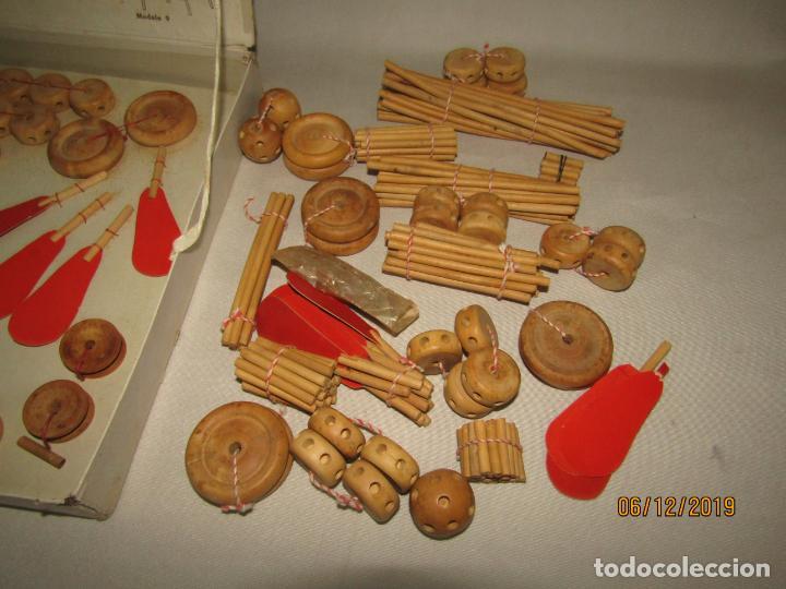 Juegos antiguos: Antiguo Juego de Construcción en Madera MONTAJES BIM BAM SUPER-RARO - Foto 11 - 187975400