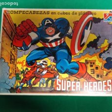 Juegos antiguos: ROMPECABEZAS ANTIGUO SUPER-HEROES. Lote 189667772