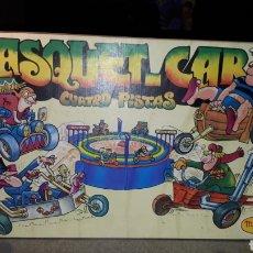 Juegos antiguos: CURIOSO JUEGO BASQUET CAR DE MADEL COMPLETO. Lote 190627583