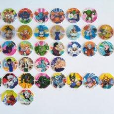 Jogos antigos: 42 TAZOS DRAGON BALL Z PUBLICIDAD MATUTANO - TODOS DISTINTOS - JAPANESE ANIME GOKU VEGETA. Lote 190887081
