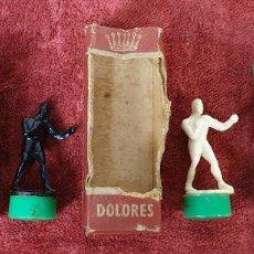 Juegos antiguos: JUGUETE MAGNÉTICO. MAGNETO. BOXEO Y BAILARINA DOLORES. ALEMANIA. CIRCA 1940. . Lote 191037312