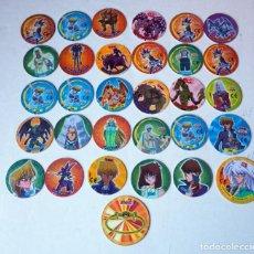 Juegos antiguos: LOTE DE 33 TAZOS DE YU-GI-OH. Lote 191372647