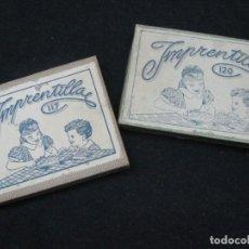 Juegos antiguos: LOTE DE DOS JUEGOS DE IMPRENTA. IMPRENTILLA INFANTIL Nº120 Y Nº117 CON CAJA. AÑOS 40. Lote 191528370