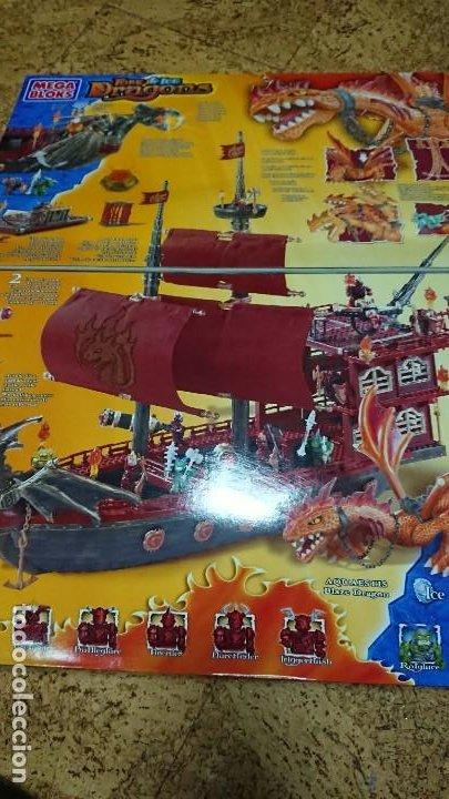Juegos antiguos: JUEGO CONSTRUCCIÓN BARCO MEGA BLOKS MEGABLOKS FIRE ICE DRAGONS 9834 - Foto 8 - 191740443