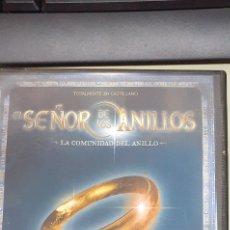Juegos antiguos: EL SEÑOR DE LOS ANILLOS LA COMUNIDAD DEL ANILLO JUEGO OFICIAL. Lote 191904271