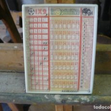 Juegos antiguos: ANTIGUO JUGUETE PARA RELLENAR QUINIELAS, LA PRIMITIVA Y LA QUINIELA HÍPICA. Lote 192075943