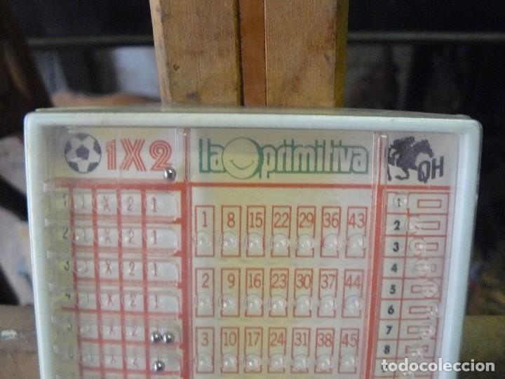 Juegos antiguos: antiguo juguete para rellenar quinielas, la primitiva y la quiniela hípica - Foto 2 - 192075943