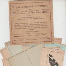 Juegos antiguos: LOTE V-JUEGO TRABAJOS MANUALES AÑOS 20-40 RECORTABLES. Lote 192642073