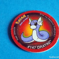 Juegos antiguos: TAZO POKÉMON . # 147 DRATINI .AÑO . 1995-1998 DE NINTENDO. Lote 194230795
