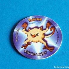 Juegos antiguos: TAZO POKÉMON . # 56 MANKEY .AÑO . 1995-1998 DE NINTENDO. Lote 194231340