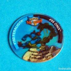 Juegos antiguos: TAZO LEAGUE POKÉMON 2 . # 160 FERALIGTR#95 ONIX .AÑO . 2002 DE NINTENDO. MATUTANO. Lote 194239175