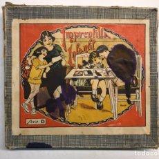 Juegos antiguos: JUEGOS. IMPRENTILLA INFANTIL SERIE D, CON SELLO CAUCHO DE VALENCIA. JUGUETE JUGADO (H.1950?). Lote 194256301