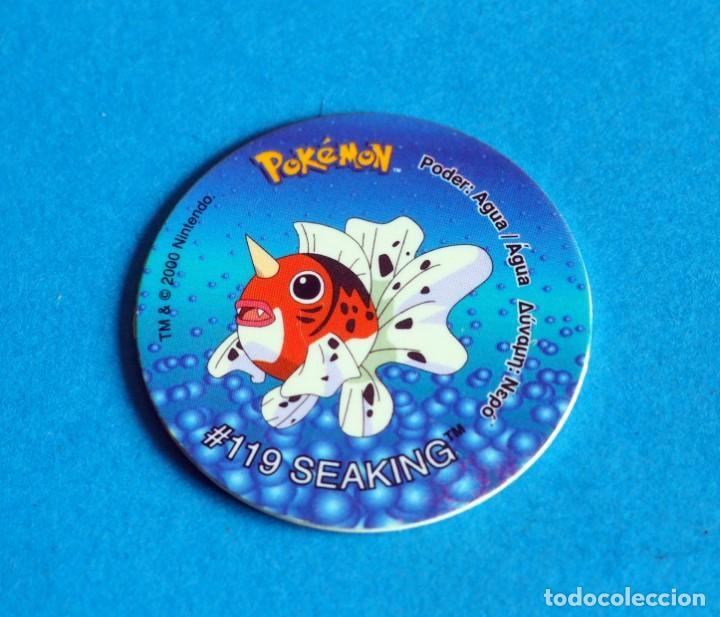 TAZO POKÉMON2 . #119 SEAKING .AÑO . 2000 DE NINTENDO (Juguetes - Juegos - Otros)