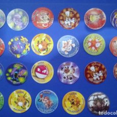 Juegos antiguos: LOTE 19 TAZOS POKÉMON TAZOS ATTACK DE MATUTANO 2001. Lote 194493766