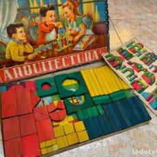 Juegos antiguos: ANTIGUO JUEGO DE CONSTRUCCION - ARQUITECTURA - ENCANTADORA ILUSTRACION. Lote 194498493