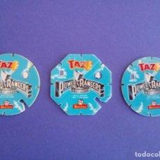 Juegos antiguos: LOTE 3 TAZOS POWERRANGERS DE MATUTANO. Lote 194571550