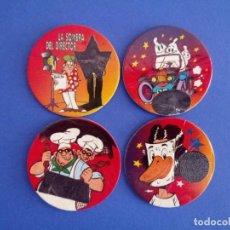 Juegos antiguos: LOTE 4 TAZOS TELECAPS DE BIMBOCAO. Lote 194571866