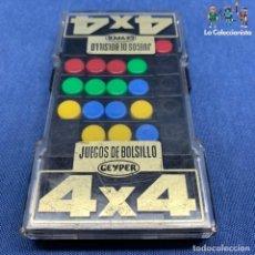 Juegos antiguos: JUEGO GEYPER - 4 X 4 - JUEGO DE BOLSILLO - CUATRO POR CUATRO . Lote 194715941
