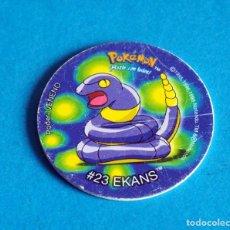 Juegos antiguos: TAZO POKÉMON . # 23 EKANS .AÑO .1996-1998 DE NINTENDO. Lote 194735615