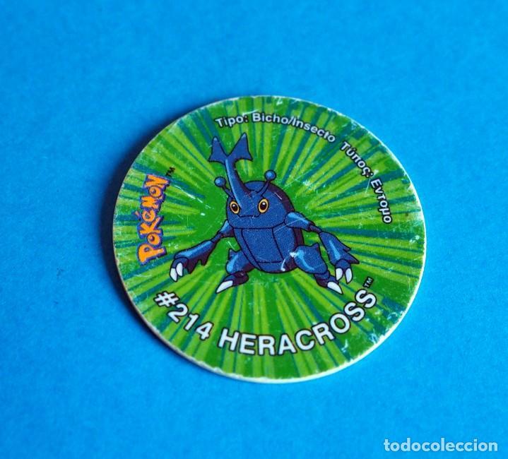 TAZO POKÉMON3 . # 214 HERACROSS .AÑO 2001 DE NINTENDO (Juguetes - Juegos - Otros)