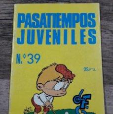 Juegos antiguos: PASATIEMPOS JUVENILES NÚMERO 39 (NUEVO). Lote 195165187
