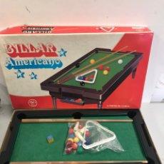 Juegos antiguos: BILLAR AMERICANO. Lote 196004060
