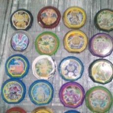 Juegos antiguos: LOTE DE 19 TAZOS DE POKEMON 2005. Lote 196369893