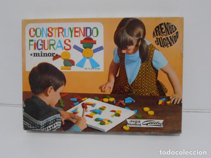 Juegos antiguos: JUEGO EDUCATIVO, CONSTRUYENDO FIGURAS, APRENDER JUGANDO GOULA, AÑOS 70 - Foto 2 - 197521591