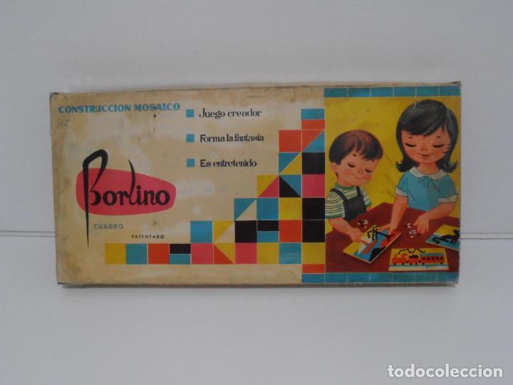 Juegos antiguos: JUEGO CONSTRUCCION DE MOSAICOS, BORLINO CUADRO, MADE IN SPAIN AÑOS 70 - Foto 2 - 197575595