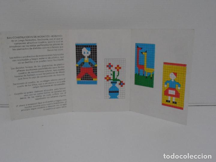 Juegos antiguos: JUEGO CONSTRUCCION DE MOSAICOS, BORLINO CUADRO, MADE IN SPAIN AÑOS 70 - Foto 5 - 197575595