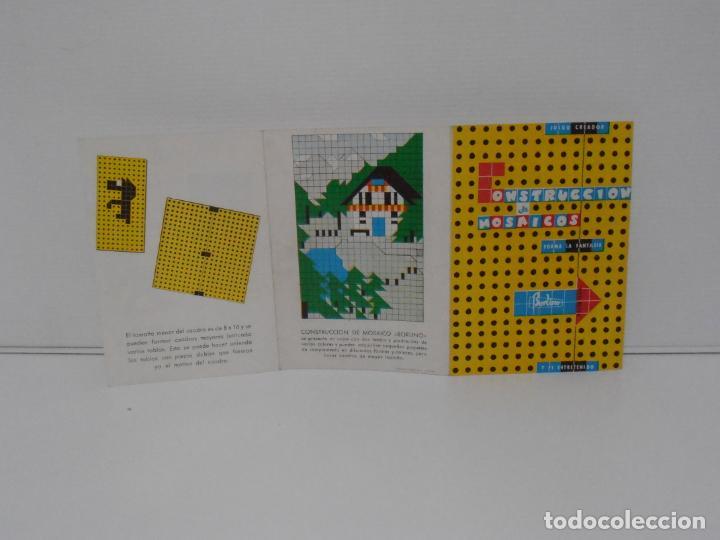 Juegos antiguos: JUEGO CONSTRUCCION DE MOSAICOS, BORLINO CUADRO, MADE IN SPAIN AÑOS 70 - Foto 6 - 197575595