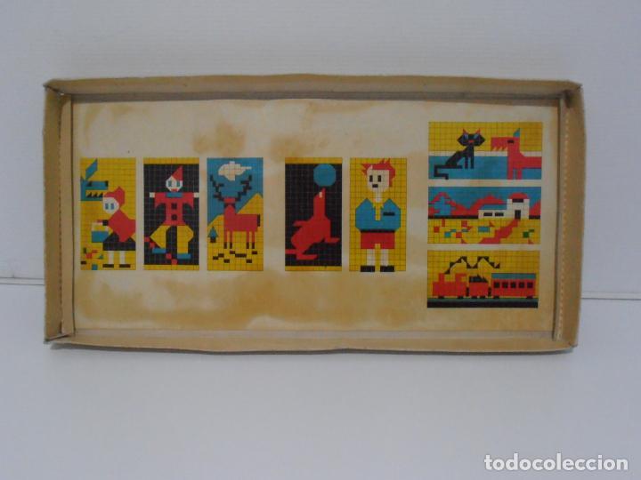 Juegos antiguos: JUEGO CONSTRUCCION DE MOSAICOS, BORLINO CUADRO, MADE IN SPAIN AÑOS 70 - Foto 7 - 197575595