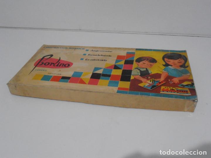 Juegos antiguos: JUEGO CONSTRUCCION DE MOSAICOS, BORLINO CUADRO, MADE IN SPAIN AÑOS 70 - Foto 8 - 197575595