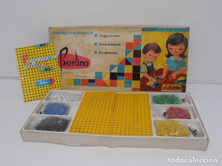 JUEGO CONSTRUCCION DE MOSAICOS, BORLINO CUADRO, MADE IN SPAIN AÑOS 70 (Juguetes - Juegos - Otros)