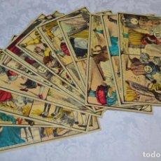 Juegos antiguos: ANTIGUOS / VINTAGE - 12 CARTONES, ESCENAS DE CUENTOS, CON PARTES EN MOVIMIENTO - AÑOS 50/60 - ¡MIRA!. Lote 202756883