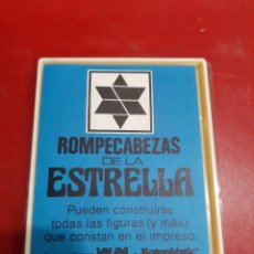 Juegos antiguos: JUEGO ROMPECABEZAS DE LA ESTRELLA VILPA BOTOPLASTIC. Lote 205105637