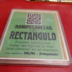 Juegos antiguos: ROMPECABEZAS DEL RECTÁNGULO VINTAGE VILPA BOTOPLASTIC. Lote 205106691