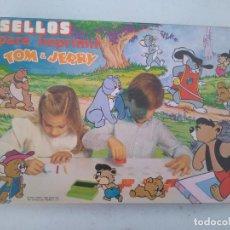 Juegos antiguos: TOM Y JERRY, SELLOS PARA IMPRIMIR, JUEGO DE LOS AÑOS 80 - NUEVO A ESTRENAR. Lote 205812756