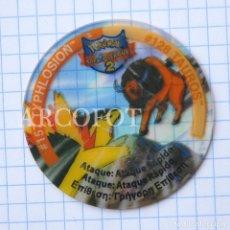 Juegos antiguos: 1 TAZO POKEMON TAZOS LEAGUE 2 - #57 TYPHLOSION - #128 TAUROS - MATUTANO - VER FOTOS. Lote 206862825