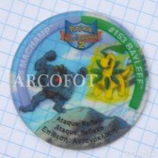 Juegos antiguos: 1 TAZO POKEMON TAZOS LEAGUE 2 - #68 MACHAMP - #153 BAYLEEF - MATUTANO - VER FOTOS. Lote 206863098