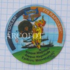 Juegos antiguos: 1 TAZO POKEMON TAZOS LEAGUE 2 - #76 GOLEM - #78 RAPIDASH - MATUTANO - VER FOTOS. Lote 206863365